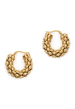 WOS Coco Hoops Earrings Guld Bubbleroom.no