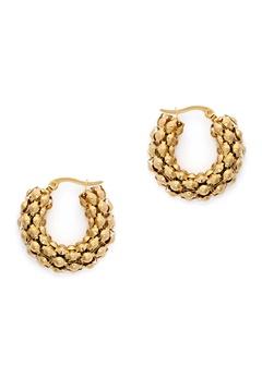 WOS Coco Hoops Earrings Guld Bubbleroom.no