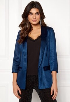 co'couture Andrea Sateen Blazer Navy Bubbleroom.no