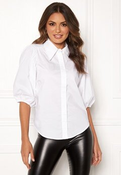 co'couture Briela Puff Sleeve Shirt White Bubbleroom.no