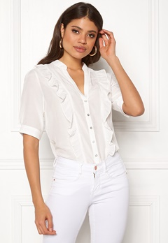 co'couture Essential Frill Shirt Off White Bubbleroom.no