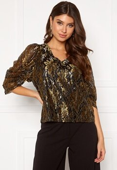 co'couture Turner Lace Blouse Gold Bubbleroom.no