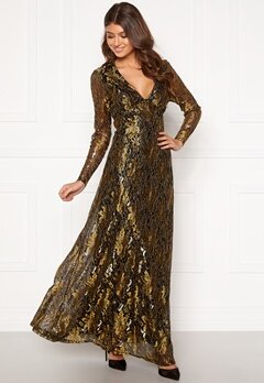 co'couture Turner Lace Dress Gold Bubbleroom.no