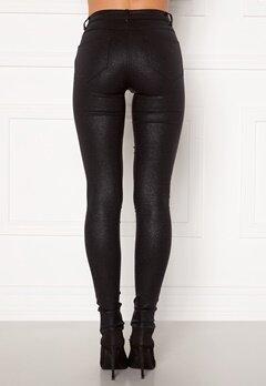 VILA Commit Glitter Coat Jeans Black Detail:Glitter Bubbleroom.no