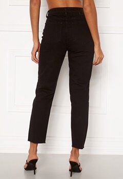 OBJECT Connie Cropped Jeans Black Bubbleroom.no