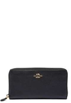 COACH Cordion Zip Around Wallet LIBLK Black Bubbleroom.no