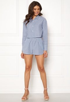 Ivyrevel Cropped Shirt Blue Mix Bubbleroom.no