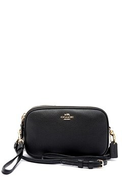 COACH Crossbody Clutch Leather LIBLK Black Bubbleroom.no