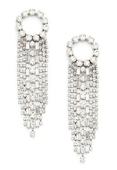 WOS Curtain Earrings Silver Bubbleroom.no