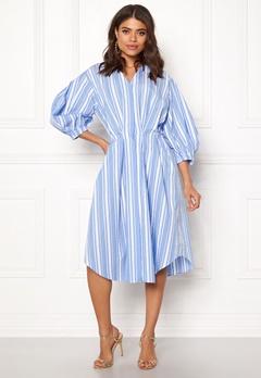 DAGMAR Chloe Dress Blue Stripe Bubbleroom.no