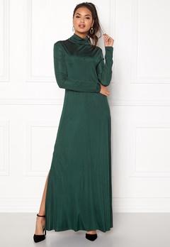 DAGMAR Joan Dress Emerald Green Bubbleroom.no