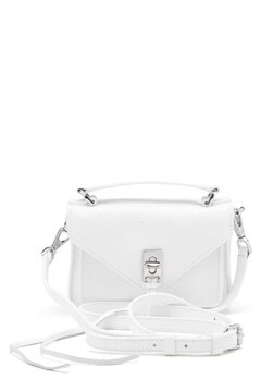 Rebecca Minkoff Darren Group Leather Bag 129 White/Silver Bubbleroom.no
