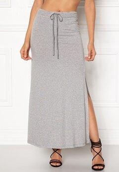 VILA Deana Maxi Skirt Light Grey Melange Bubbleroom.no