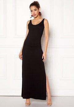 VILA Deana S/L Maxi Dress Black Bubbleroom.no