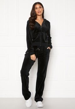Juicy Couture Del Ray Classic Velour Pant Black Bubbleroom.no