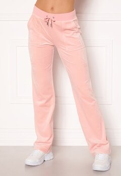 Juicy Couture Del Ray Classic Velour Pant Pale Pink Bubbleroom.no