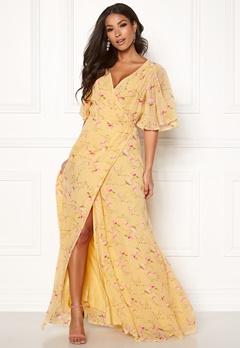 byTiMo Delicate Semi Wrap Dress 840 Yellow Poppy Bubbleroom.no