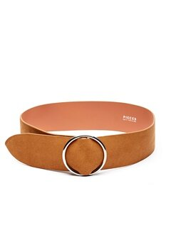 Pieces Docia Suede Waist Belt Cognac Bubbleroom.no