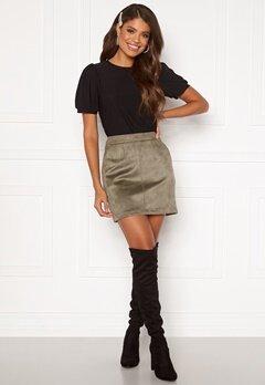 VERO MODA Donnadina Faux Suede Short Skirt Bungee Cord Bubbleroom.no