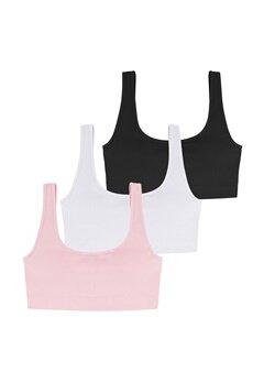 DORINA Flo 3PP Bralette 3X0051- White/Pink/B Bubbleroom.no