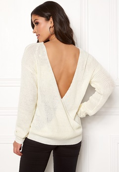 Rut & Circle Doris Back Wrap Knit White Bubbleroom.no