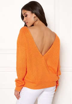 Rut & Circle Doris Back Wrap Knit Orange Bubbleroom.no