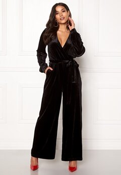 Dr. Denim Lucida Jumpsuit Black Velvet Bubbleroom.no