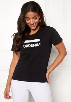 Dr. Denim Luna Tee Black Logo Bubbleroom.no