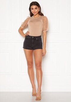 Dr. Denim Skye Shorts Retro Black Bubbleroom.no