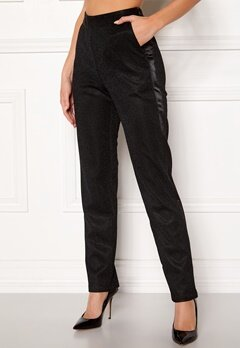 DRY LAKE Abigail Trousers 008 Black Glitter Bubbleroom.no