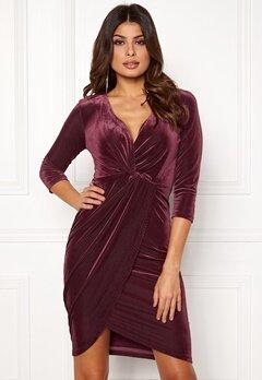 DRY LAKE Angelina Dress 608 Burgundy Bubbleroom.no