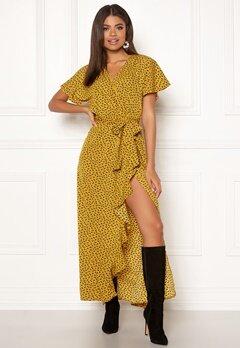 DRY LAKE Bela Long Dress 862 Yellow Heart P Bubbleroom.no
