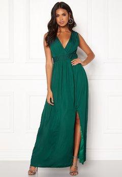DRY LAKE Callie Long Dress Dark Green Bubbleroom.no