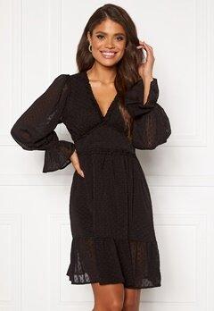 DRY LAKE Cassandra Dress 275 Black Chiffon Ja Bubbleroom.no