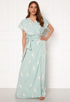 DRY LAKE Floral Long Dress 841 Mint White Wave Bubbleroom.no