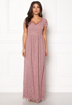 DRY LAKE Kayla Long Dress Dusty Rose Bubbleroom.no