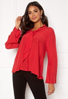 DRY LAKE Malley Blouse 600 Red Bubbleroom.no