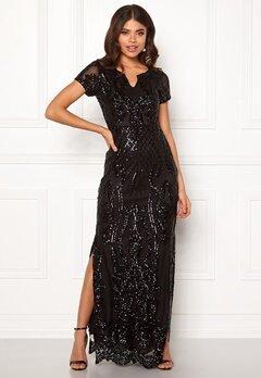 DRY LAKE Miramis Long Dress 001 Black Bubbleroom.no
