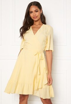 DRY LAKE Nanny Dress 720 Yellow Jacquard Bubbleroom.no
