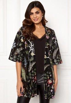 DRY LAKE Paola Kimono 024 Black Garden Bubbleroom.no