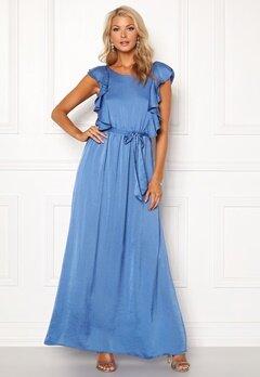 DRY LAKE Rivera Long Dress Royal Blue Satin Bubbleroom.no