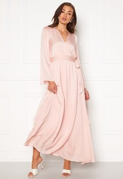 DRY LAKE Robyn Long Dress 526 Pink Pale Bubbleroom.no
