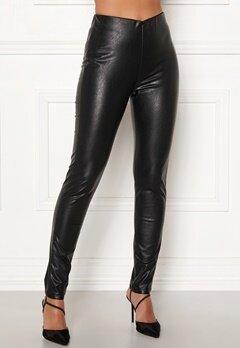 DRY LAKE Sansa Trousers 027 Black Faux Leat Bubbleroom.no