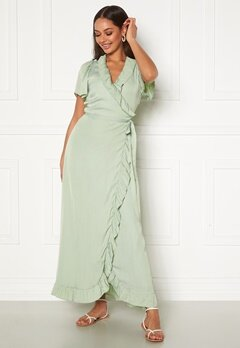 DRY LAKE Takita Ankle Dress 329 Mint Green Satin Bubbleroom.no