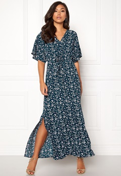 DRY LAKE Valentina Long Dress Cerise Print Bubbleroom.no