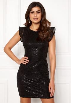 ONLY Duna Frill Short Dress Black Bubbleroom.no