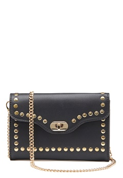 ONLY Elisa Stud Crossbody Bag Black/Gold Bubbleroom.no