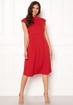 VILA Ellery S/L Dress Racing Red Bubbleroom.no
