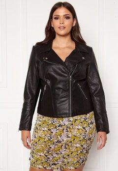 Only Carmakoma Emmy Faux Leather Biker Black Bubbleroom.no