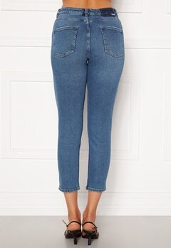 ONLY Erica Life Mid Ank Jeans Dark Blue Denim Bubbleroom.no